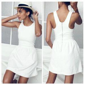 Madewell Pierside Zip-Back Dress L NWT
